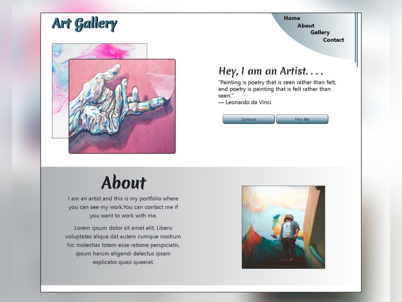 Art Gallery Website Design