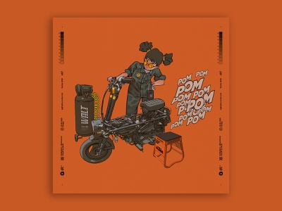 rempit motorcycle motocompo racing racer characterdesign digitalart illustration tuanmulo