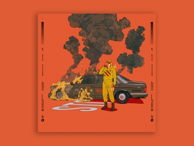safe drive accident fire race characterdesign digitalart illustration tuanmulo