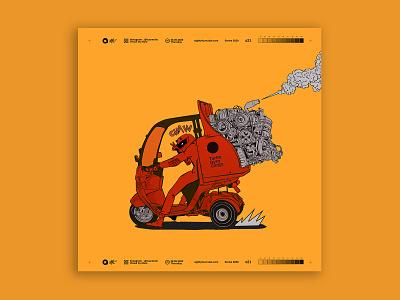 cargo redesign motorbike gyrocargo digitalart illustration tuanmulo