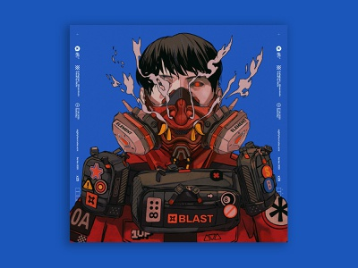 burst mask cyberpunk hypebeast characterdesign digitalart illustration tuanmulo