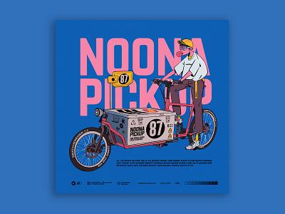 noona pickup cycling cargobike characterdesign digitalart illustration tuanmulo