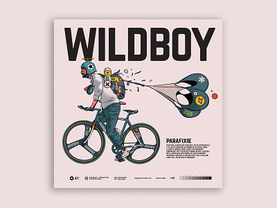 wildboy parachute nobrake ridewild fixie character design digital art characterdesign digitalart illustration tuanmulo
