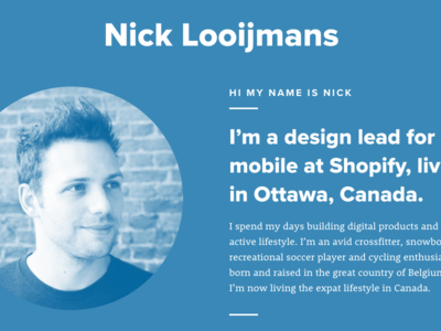 About me typography nova proxima intro website me about personal