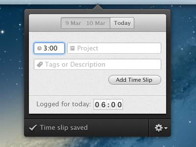 Time Track app mac app popover time tracking track fantastical