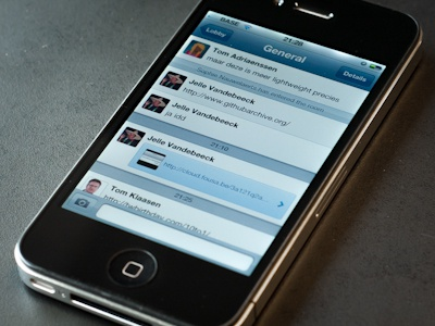 Group chat app for iPhone iphone group chat interface avatar bubble