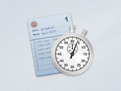 Punch icon punch time tracking stopwatch timesheet stamp handwritten icon mac