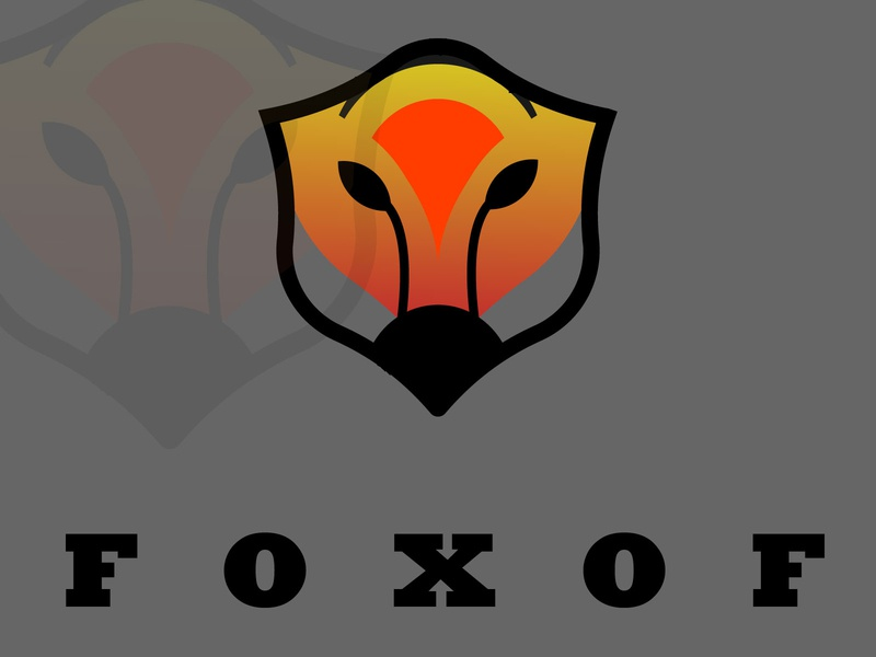 FOXOF| Fox Logo |Daily Logo Challenge: Day 16 vector illustration vector typography logo logo design illustrator art branding illustrator design illustrator illustration