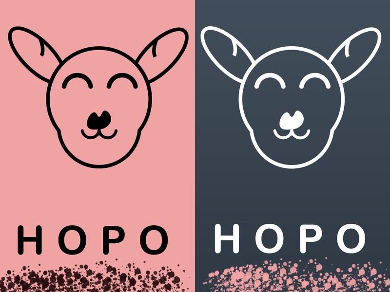 hopo|Kangaroo Logo| Daily Logo Challenge: Day 19 design vector illustration vector typography logo design logo illustrator art branding illustrator design illustrator illustration