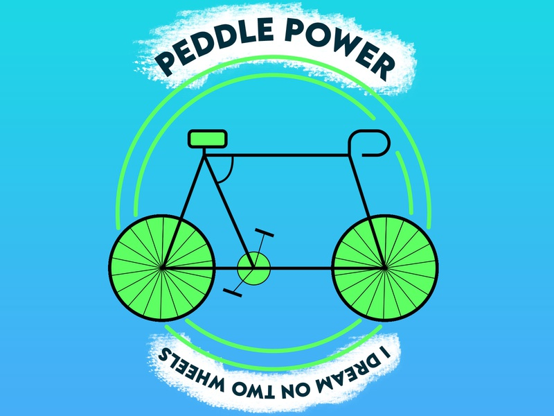 Peddle Power|Bicycle Shop Logo|Daily Logo Challenge: Day 24 design vector typography logo design logo vector illustration illustrator art branding illustrator design illustrator illustration