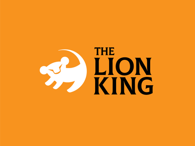 Disney Logo Redesign 1: THE LION KING lionking disney art illustrator minimal flat icon vector logo design illustration