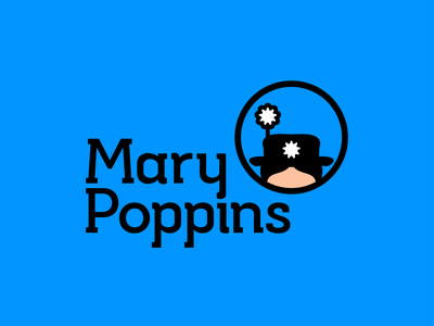 Disney Logo Redesign n°4 -  MARY POPPINS mary poppins logotype illustrator art vector minimal logo icon disney design