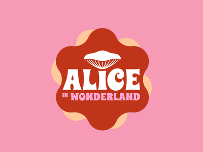 Disney Logo Redesign n°5 - ALICE IN WONDERLAND art vector aliceinwonderland 70sdesign logotype illustrator flat logo icon disney design
