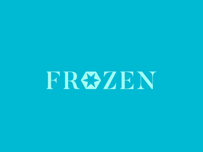 Disney Logo Redesign n°6 - FROZEN branding frozen logotype flat illustrator minimal vector logo icon disney design