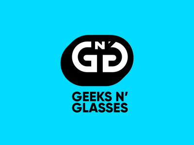 Geeks n' Glasses New Logo typography branding logotype illustrator minimal icon flat design vector logo