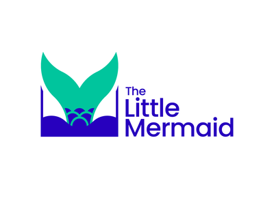 Disney Logo Redesign - THE LITTLE MERMAID branding logotype disney minimal illustrator icon flat vector logo design