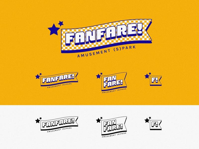 FANFARE - Amusement Park Logo Concept logotype typography branding icon minimal illustrator flat vector logo design