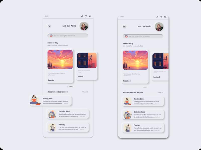 05 - 3D clean design mobile interface