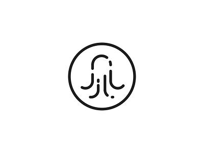 Logo - Octopus black minimalistic branding logo brand octopus