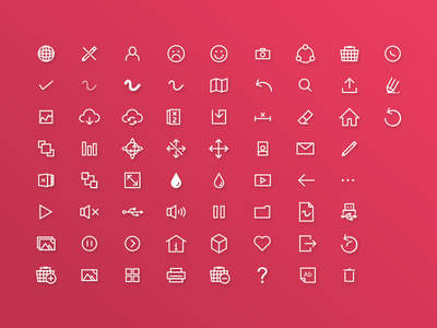 Icons Excense pixel vector software pink icons library