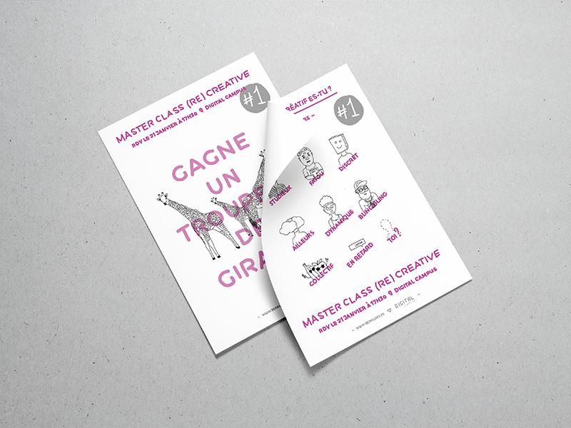 Poster - Creative school event  fun pink minimalist poster