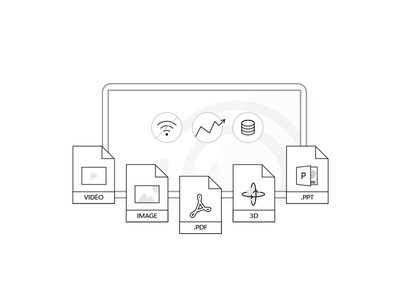 Experience - Human to human human stroke minimalistic tablet draw