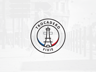 Parisian Bike - Trocadero Fixie  trocadero france french identity logotype vélo bike parisian paris logo