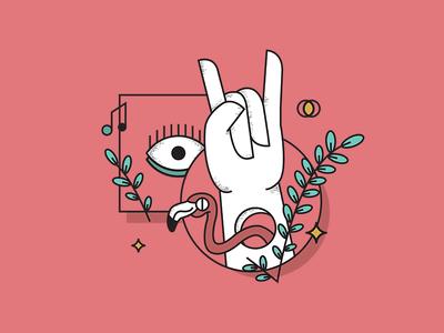 Rock Festival rock illustrator france green eyes music rennes festival fun