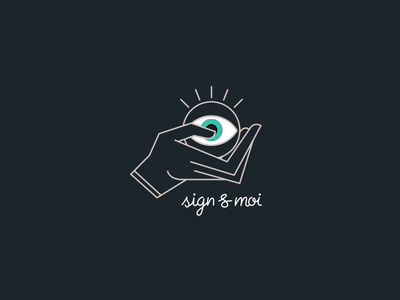 Logotype - sign language association handraw handscript minimalist association sign language