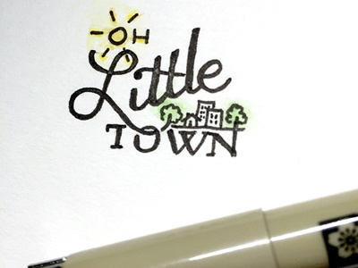 Oh Little Town ::: Hand-Lettered Typography lettering typography type paper graffiti illustrated type handwritten handletter hand-lettered hand lettering hand drawn typography custom typography
