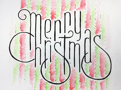 Merry Christmas ::: Hand-Lettered Typography