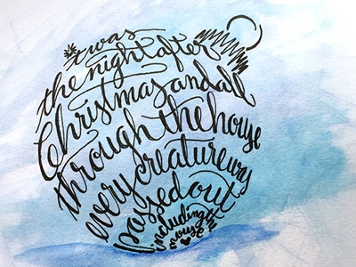 'Twas the Night After Christmas ::: Hand-Lettered Typography lettering typography type paper graffiti illustrated type handwritten handletter hand-lettered hand lettering hand drawn typography custom typography