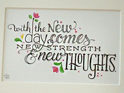 With the New Day ::: Hand-Lettered Typography