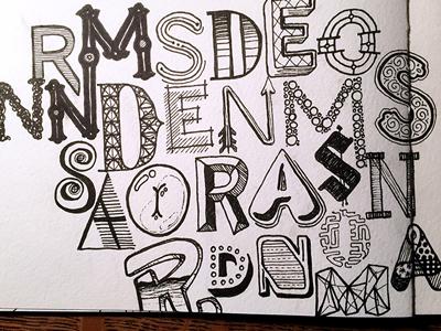 Randomness, Randomness, Random ::: Hand-lettered Typography