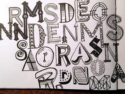 Randomness, Randomness, Random ::: Hand-lettered Typography lettering typography type paper graffiti illustrated type handwritten handletter hand-lettered hand lettering hand drawn typography custom typography