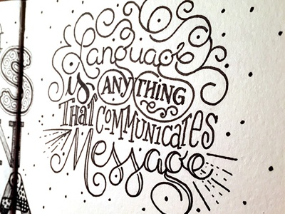 Language Communicates Message ::: Hand-lettered Typography