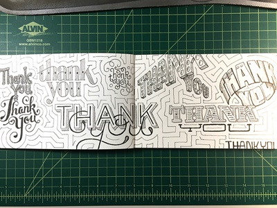 Thank You (x9) ::: Hand-lettered Typography