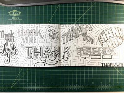 Thank You (x9) ::: Hand-lettered Typography lettering typography type paper graffiti illustrated type handwritten handletter hand-lettered hand lettering hand drawn typography custom typography