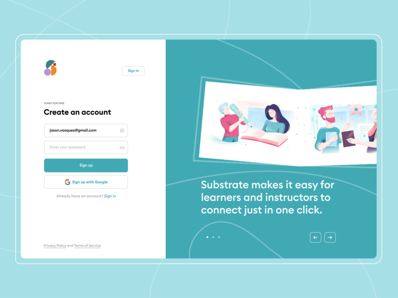 Substrate - Landing Page illustration concept minimalistic design flat landing page design landing page ui branding clean minimal ui photoshop