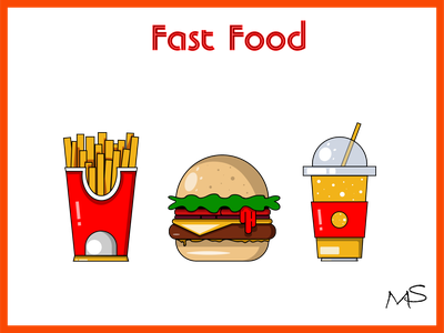 Fast Food stickers Free stickers icon 2d vector illustration design