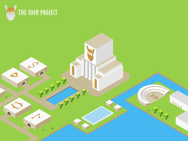 The Odin Project: Isometric illustration by Ada Chiu on Dribbble