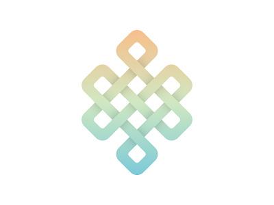 Endless Knot gradient symbol karma affinity designer endless knot buddhism