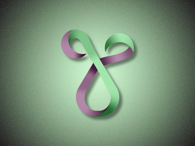 G logo concept letter fictional purple letter g green branding design logo vector