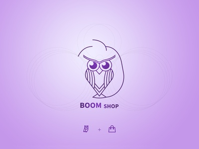 boom shop logo app design graphic design icon vector illustration branding design ux ui logo