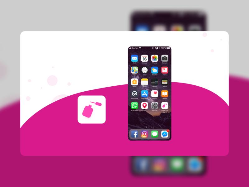 Daily UI #005 - App Icon app design dailyuichallenge dailyui ui paint bottle vicky the brand logo icon design ios app app app ui app icon