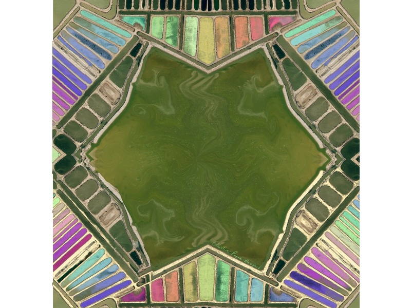 Kaleidoscope Birdseye view design art color illustration colorful dribbbleweeklywarmup christinepryordesigns earth pattern