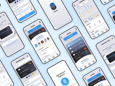 Pocket design mobile app wallet digital wallet ux