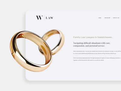 Family Law Webpage design branding law parallax 3d gold web design web