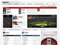 Fox Deportes - Responsive Baseball Game Trax
