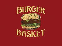 Vintage Shirt Design - Burger Basket